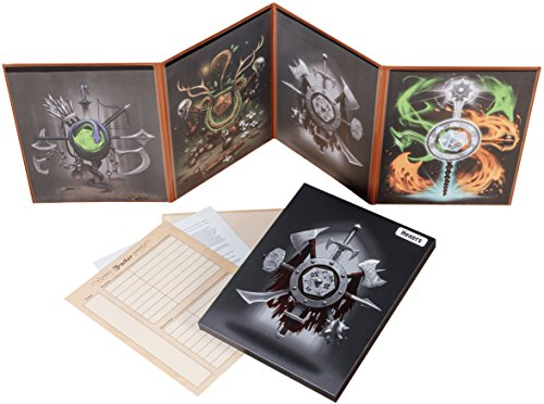 The Master/'s Tome GM Screen Dry Erase with 4 D/&D Reference//Art Inserts BLACK